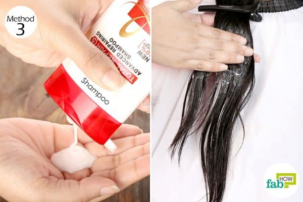 Wash your hair with a shampoo to get coconut oil out of hair