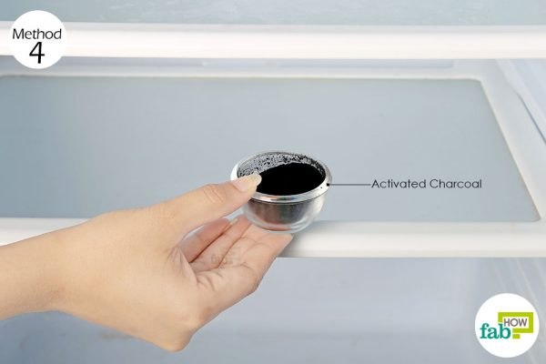 Place a bowl of activated charcoal in your refrigerator to remove odor from refrigerator