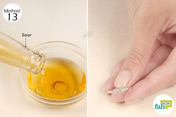 Soak your jewelry in beer to make it sparkle