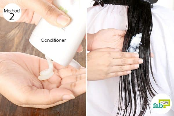 Wash your hair with a conditioner to get coconut oil out of your hair