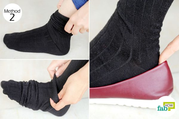 Put on 2 pairs of socks to prevent or treat shoe bites