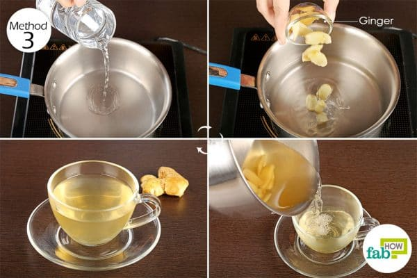 Drink ginger tea to alleviate the symptoms of vertigo