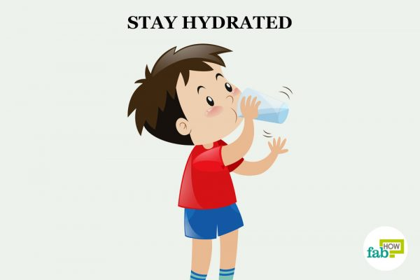 stay hydrated to concentrate on studies