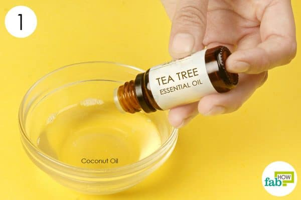 Combine tea tree oil with coconut oil to get rid of psoriasis