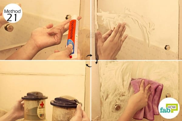 Apply white toothpaste and then wipe it off to clean foggy glasses