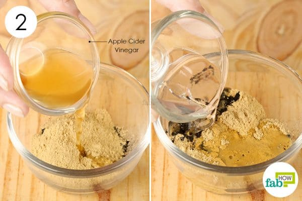 Add apple cider vinegar and water to the mix to make a diy face mask for blackhead