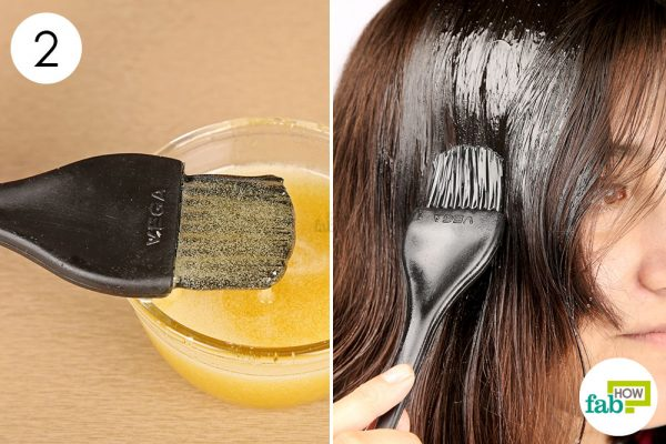 Apply the castor oil and honey hair mask once a week for enhanced hair growth