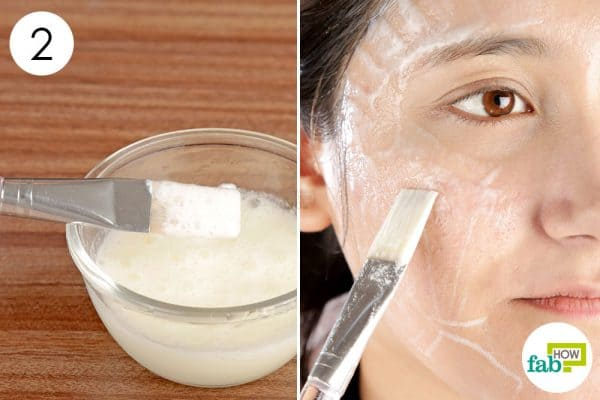 Mix and apply the egg face mask once a week diy face mask for oily skin