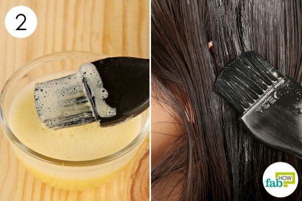 Apply the DIY anti-dandruff egg hair mask once a week