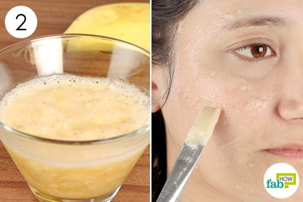 Apply the banana mask twice a week make a diy face mask for oily skin