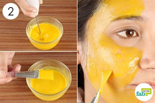 Mix and apply the face pack evenly all over your face to make diy face mask for oily skin