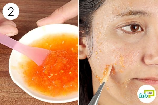 apply the tomato face mask 2 to 3 times per week make diy face mask for oily skin
