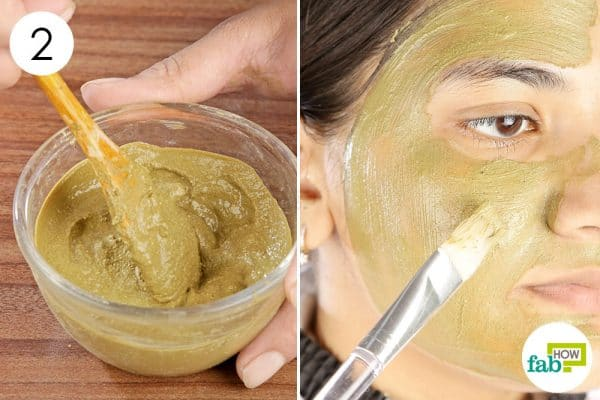 Mix together and apply the paste on your face diy face mask for oily skin