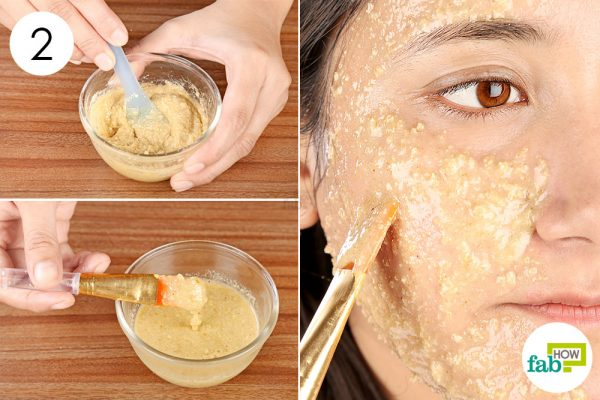 Mix well and apply it on your face to make a DIY face mask for dry skin