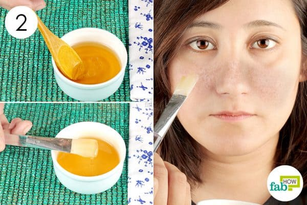 Apply the mix once every three days to get rid of melasma