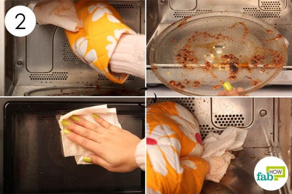 Use a paper towel to wipe off the loose dirt