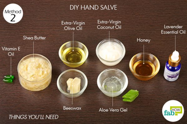 Things you'll need to make DIY hand salve to get rid of dry hands