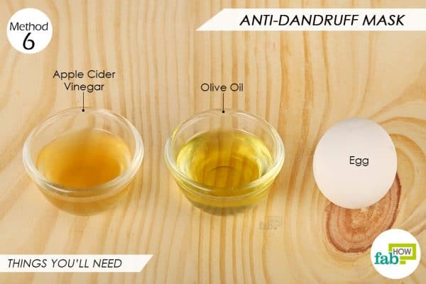 Things needed to make DIY anti-dandruff egg hair mask