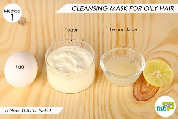 Things needed to make DIY egg cleansing mask for hair