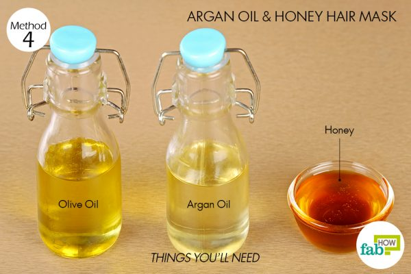 Things needed to make castor oil and honey hair mask for hair growth