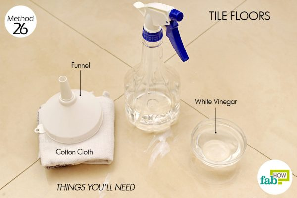Things needed to clean your tile floors