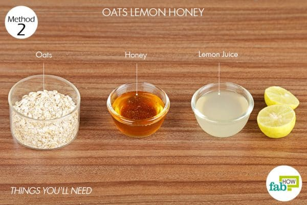 Things you'll need to make a face mask for oily skin