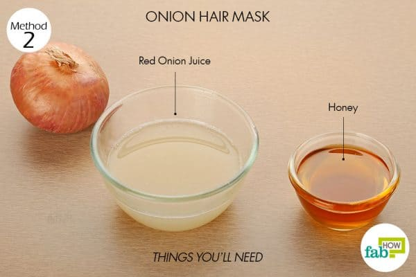 things you'll need to make onion hair mask for hair growth