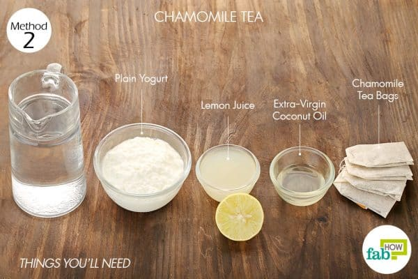 things you'll need to use chamomile tea to lighten hair naturally