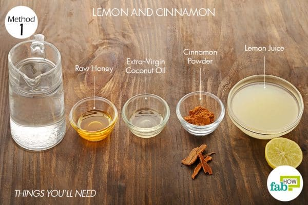 things you'll need to use lemon and cinnamon to lighten hair naturally