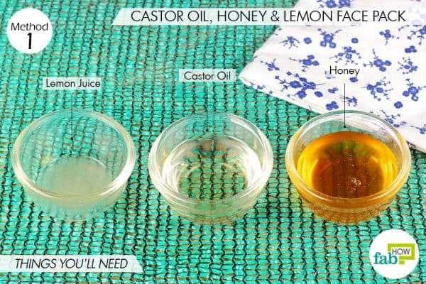 things you'll need to use castor oil to get rid od melasma