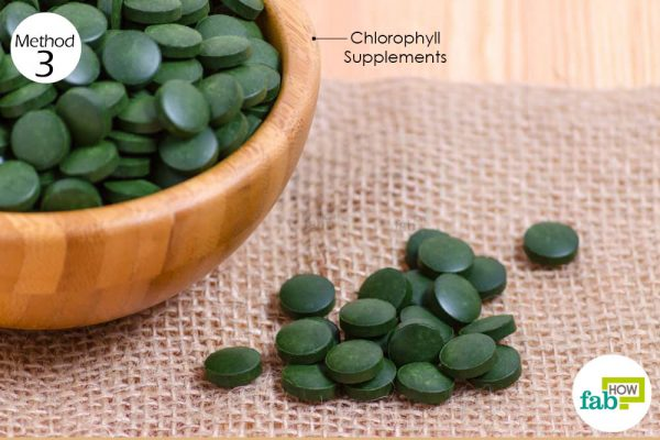 Take chlorophyll supplements daily to get rid of anemia
