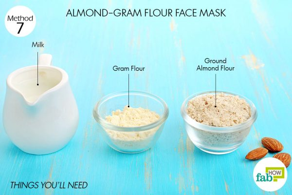 Things you'll need to make almond face mask to brighten skin