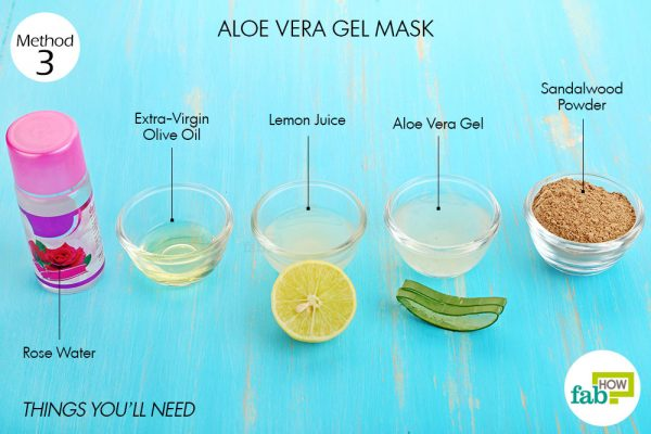 Things you'll need to make aloe vera face mask to brighten skin