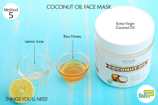 Things you'll need to make coconut oil face mask to brighten skin