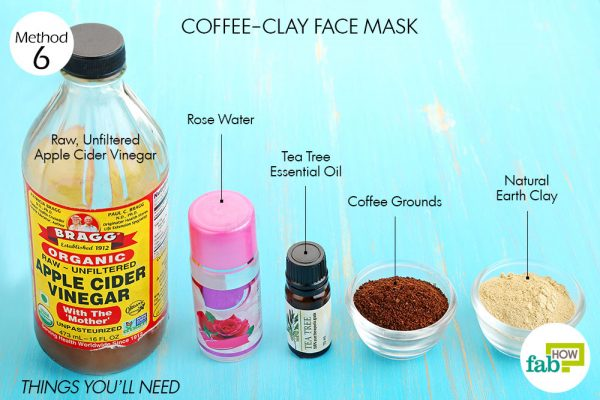 Things you'll need to make coffee face mask to brighten skin