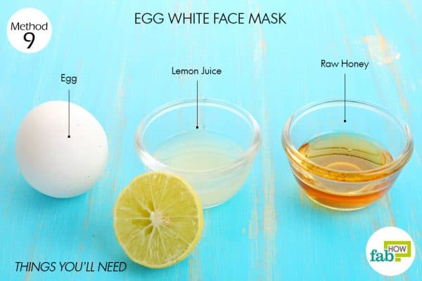 Things you'll need to make egg white face mask to brighten skin