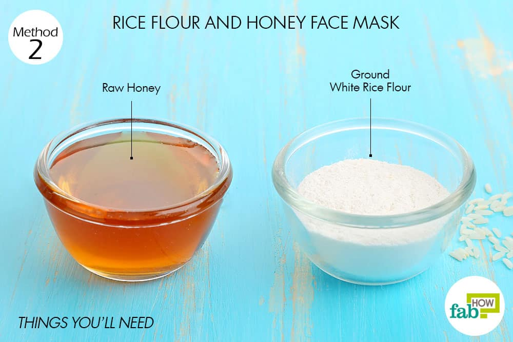 rice flour mask Renowned for its hydrating activity, topical application of this face mask will help to get rid of dry skin skin lightening property of rice flour makes it the best home remedy for radiant skin.