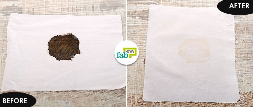 how to clean hair dye stains from a towel