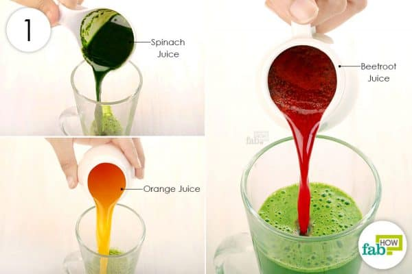 Combine orange, spinach and beetroot juice to get rid of anemia