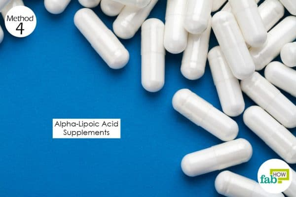 Consume alpha-lipoic acid supplements for 2 to 3 weeks to get rid of burning mouth syndrome