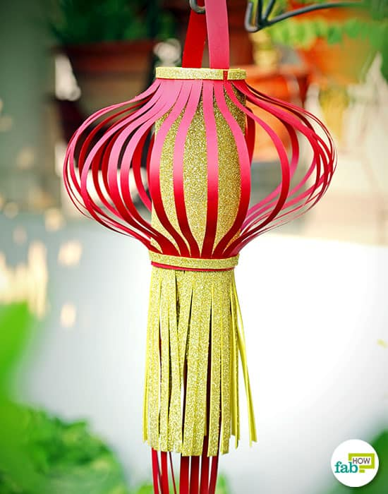 Use this lantern with frills to decorate your home this Diwali