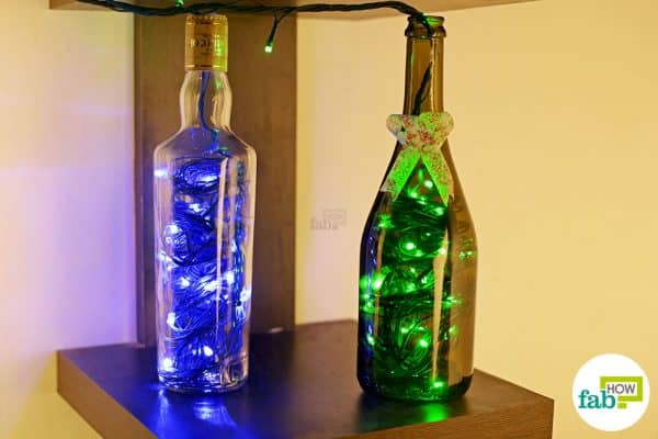 Light up your wine bottles this Diwali; afterwards use them as bedside or table lamps