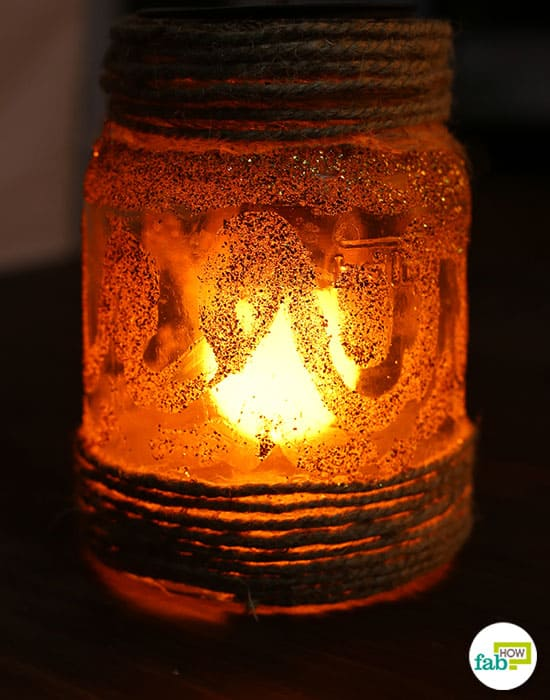 Light up your Mason jars to brighten your home this Diwali