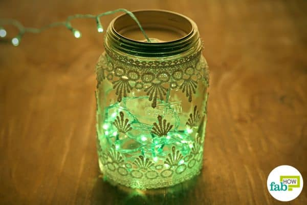 Insert fairy lights and decorate your home with these vintage-style Mason jars