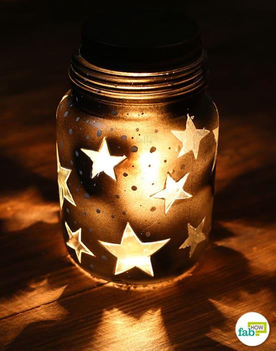 Light up your dark corners this Diwali using this DIY Mason jar lamp