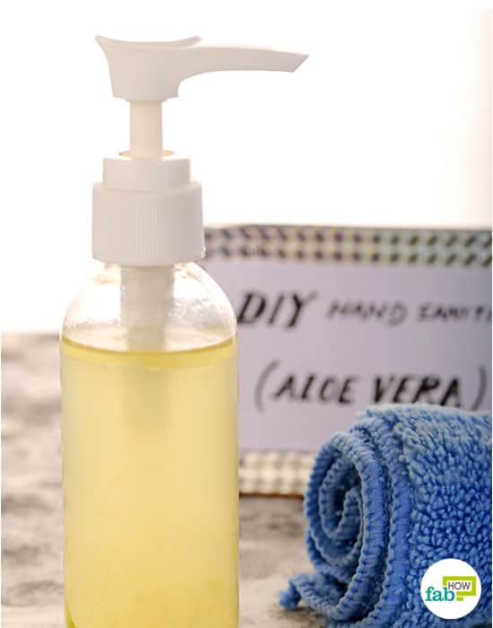 final to make your own hand sanitizer using aloe vera gel