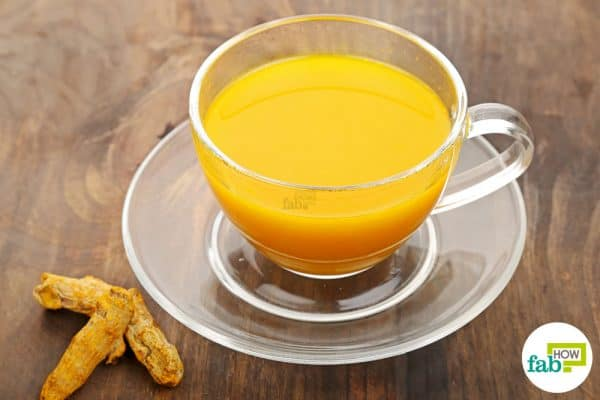 Drink turmeric tea once or twice every day to use turmeric for arthritis