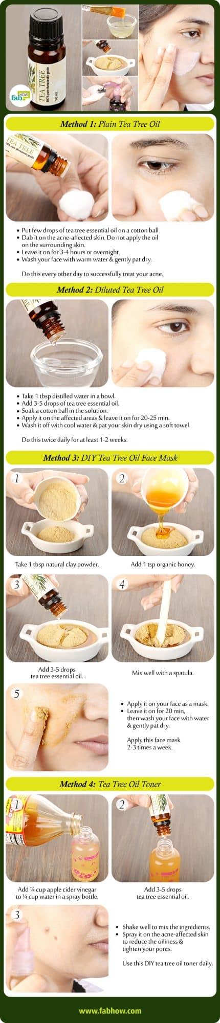 how to use tea tree oil for acne summary