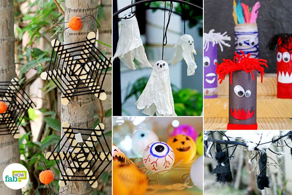 Diy easy and spooky halloween decorations fab how for Make your own halloween decorations