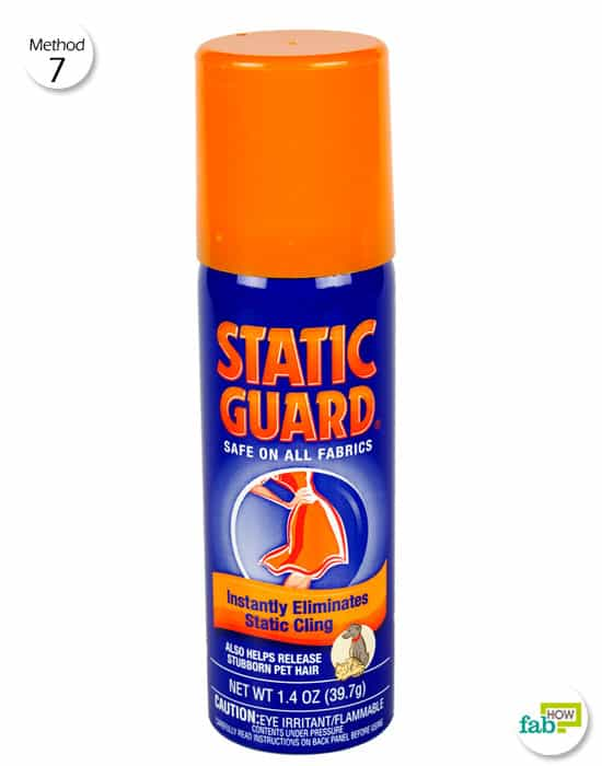 Use Static Guard on your clothing to get rid of static cling